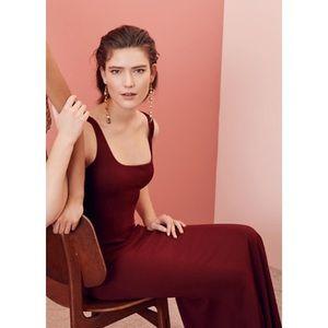 Stunning BHLD burgundy red evening dress
